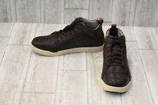 Hush Puppies Lively Genius Sneaker - Men's Size 9.5M - Dark Brown Leather NEW!
