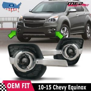 2010-2015 Chevy Equinox Clear Projector Bumper Fog Lights + Wiring Kit