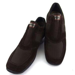 Salvatore Ferragamo sneakers nylon �~ s suede Auth used T18358