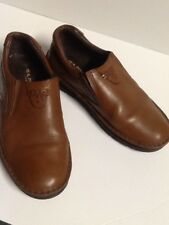 PJ Real Patrik Collections men's size 42 brown loafers slip on leather shoes.