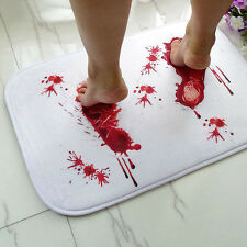 Blood Bath Mat Creative Thrilling Present Floor Door Mat Pad Home Garden Cushion