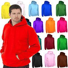 Mens Plain Hoodie Size XS to 4XL Regular Fit Hooded Sweatshirt Premium 300gsm