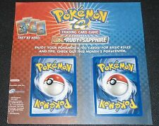 Kyogre + Groudon EX 001 002 MOUNTED E Reader Ruby & Sapphire Promo Pokemon Cards