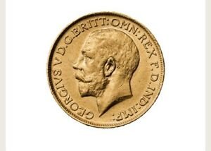 22ct 1912 Full Gold Sovereign George V Perth Mint