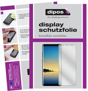 2x Schutzfolie für Samsung Galaxy Note 8 klar Displayschutzfolie Folie Display