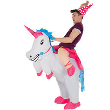 Unicorn Inflatable Ride On Costume Adult Funny Fancy Dress Stag Party Halloween