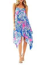 Lilly Pulitzer Silk Kimi Dress Coastal Retreat, size XS  NWT