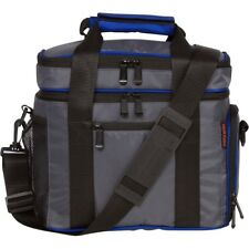 Insulated Grey/Blue Lunch Cooler Bag