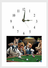 Reloj De Pared De Pool De Perros playng pwersonalised Sin Cargo