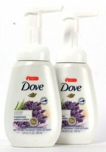 2 Bottles Dove 6.8 Oz Lavender & Yogurt 5X Moisturizers Foaming Hand Wash