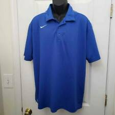 Nike Dri Fit Mens Activewear Polo Shirt Blue Short Sleeves Xl