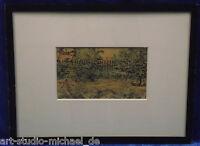 Kleine, expressive Federzeichnung Aquarelliert, 1913, undeutlich signiert