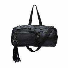 """Rare DIOR Homme Hedi Slimane SS07 """"Deville"""" Black Leather Duffle Bag"""