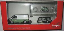 Herpa 092760 VW T6 Kastenwagen mit Anhänger und Vespa Spedition Wandt 1:87 HO