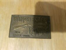 Vintage Winchester Repeating Arms Brass Belt Buckle New