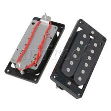 More details for double guitar pickups black frame set for electric guitar accessories