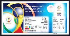 2002 World Cup ECUADOR v ITALY *Mint Condition UNUSED Ticket*
