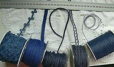 BURLAP Jute DARK BLUE 1 to 16mm Wide 2 to 20 Metres Long 5 AsstStyle Choice BRD4