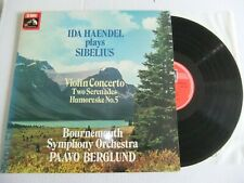 "IDA HAENDEL Plays SIBELIUS""Sibelius Violin Concert""HMV ASD 3199(1976) LP"