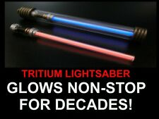 TRITIUM LIGHTSABER (WHITE) GLOWS NON STOP FOR DECADES! Keyring/Keychain LIMITED!