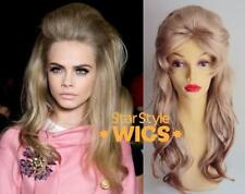 Deluxe Barbarella 1960's Long Blonde Beehive Fashion Costume Wig