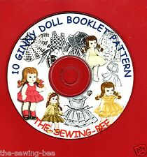 10 Vintage Ginny Doll Pattern Booklets on CD's Fits Ginny Dolls 7-8