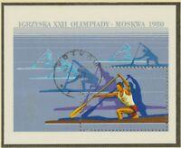 POLEN 1980, Block Olympische Sommerspiele, Moskau FDI