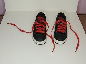 HEELYS - Heelys X2 Black  and red  UK Size 12 EUR 31 Junior Kids Children