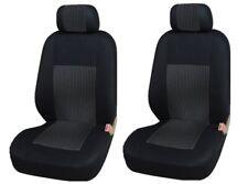2x Sitzbezüge vordere Schonbezüge Schwarz LUX Polyester Neu Hochwertig für