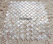 Free shipping 11pcs fish scale shell mosaic kitchen backsplash wall shower tile