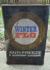 Vintage Winter Flo Antifreeze 1 gallon can advertising collectible