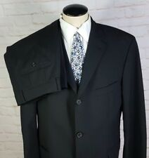 Hugo Boss Rossellini/Movie Mens Suit Black Tonestriped 3btn Jacket 42R Pants 38W