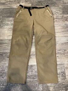 tan fleece lined waterproof snow pants 2XL