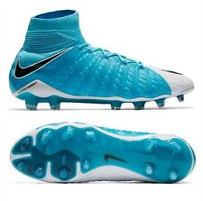 Nike Hypervenom Phantom III DF FG Mens Soccer Cleats Blue 860643-104 Size 6-