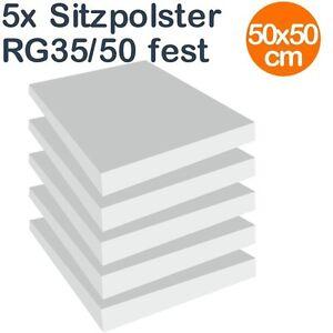 Sitzpolster, Schaumstoff, Set aus 5 x Schaumstoffplatten ca. 50 x 50 cm RG 35/50