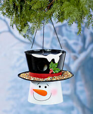 Seasonal Birdhouse Feeders - Snowman Or Scarecrow