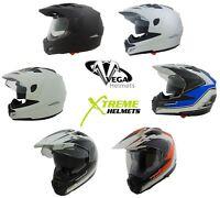Vega Crosstour Helmet Dual Sport DOT XS S M L XL 2XL