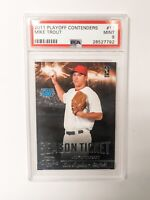 2011 Playoff Contenders Season Ticket Mike Trout Angels RC Rookie PSA 9 MINT