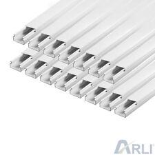 Kabelkanal 15 x 10 mm PVC 30m Kabelleiste Installationskanal Elektro Kabel Kanal