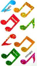 ~ Sparkle Rainbow Music Notes Musical Musician Hambly Studios Glitter Stickers ~
