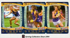 2011 AFL Teamcoach Trading Cards Prize Card Team Set West Coast (3)