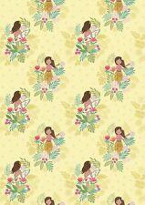Fat Quarter Island Girl Polynesian Look Sunshine 100% Cotton Quilting Fabric