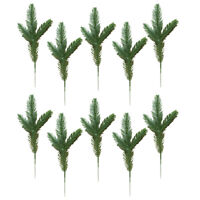 10Pcs Artificial Flower Fake Pine Branches Green Plants Christmas Tree Decor