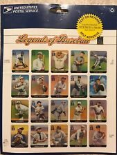 Full Sheet of 20 Legends of Baseball Stamps - - Ruth, Robinson, Cobb 2000