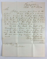 Antique Letter To Bank Of Utica Comptroller Albany New York Utica Postmark 1837
