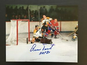 BERNIE PARENT AUTOGRAPHED 8 X 10 BOSTON BRUINS PHOTO