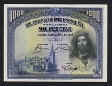 F.C. 1000 PESETAS 1928 , SIN SERIE , EBC+ .