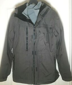 686 Smarty Form Insulated Snowboard Jacket Style L5W120 Gray Mens Small Winter