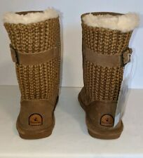 Bearpaw Girls Boots Stella Youth NEW Size 2 Hickory Suede/Knit Wool Warm