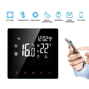 Home Smart Programmable Wifi Wireless Heated LCD Digital Thermostat App Control